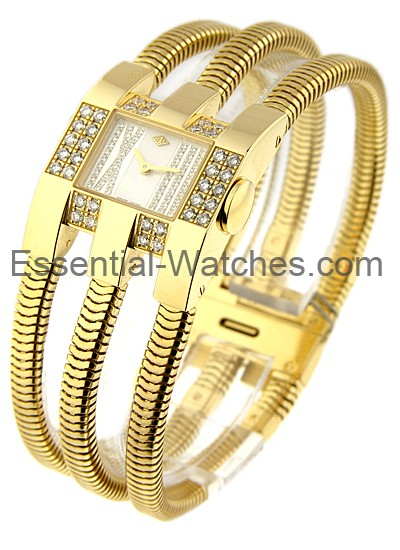 Van Cleef Yellow Gold Triple Bracelet Watch