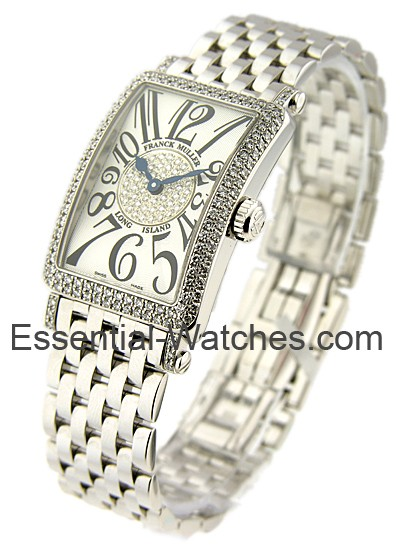 Franck Muller Lady's WG Long Island on Bracelet