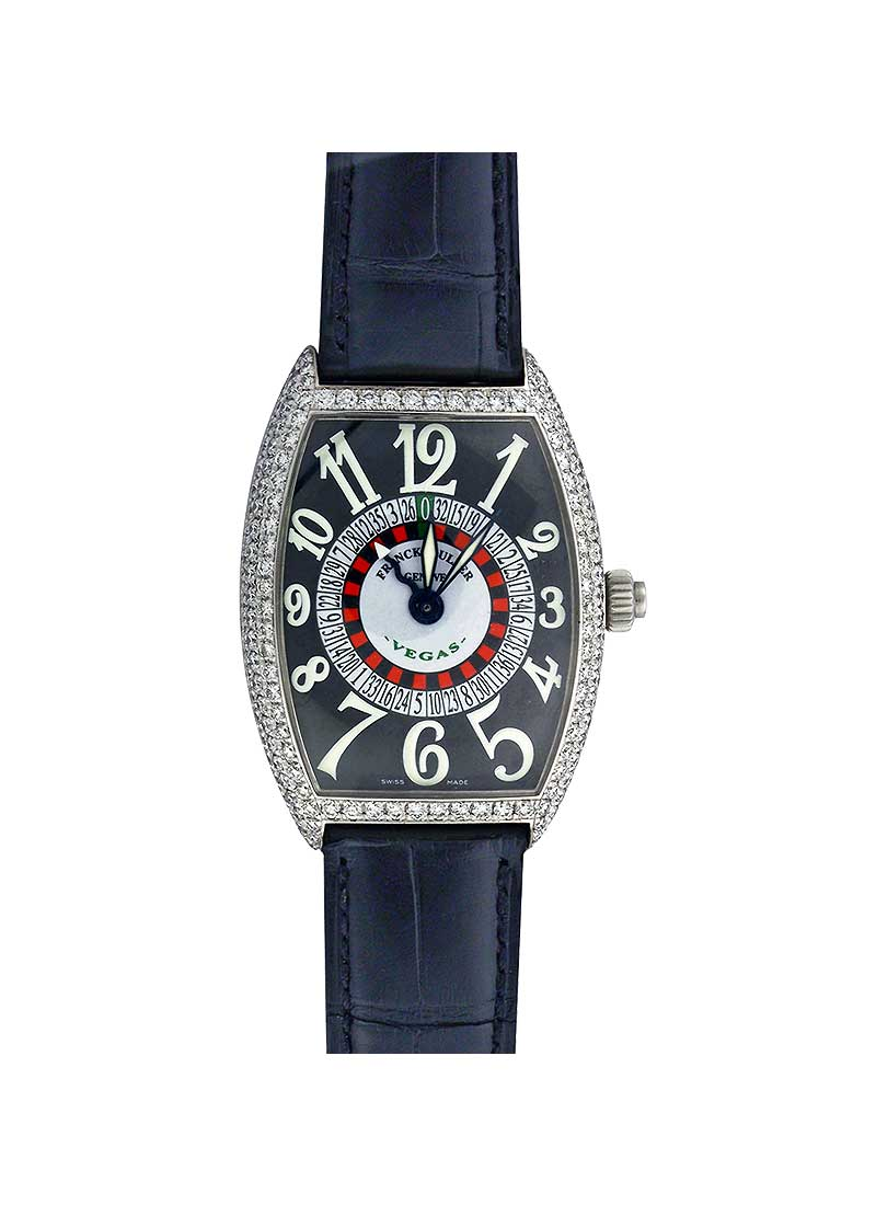 Franck Muller Casablanca Vegas in White Gold with Diamond Bezel