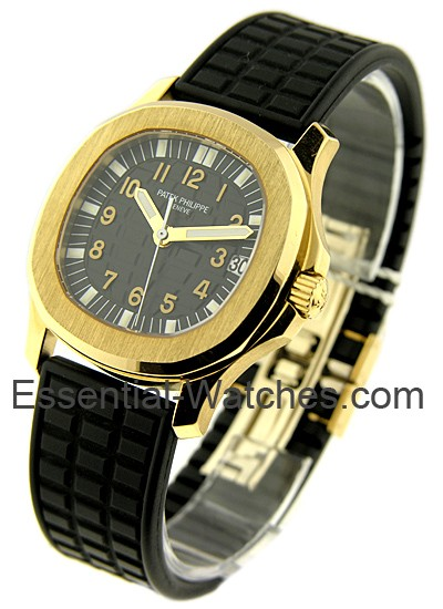 Patek Philippe 5066J   Aquanaut Mens Automatic in Yellow Gold