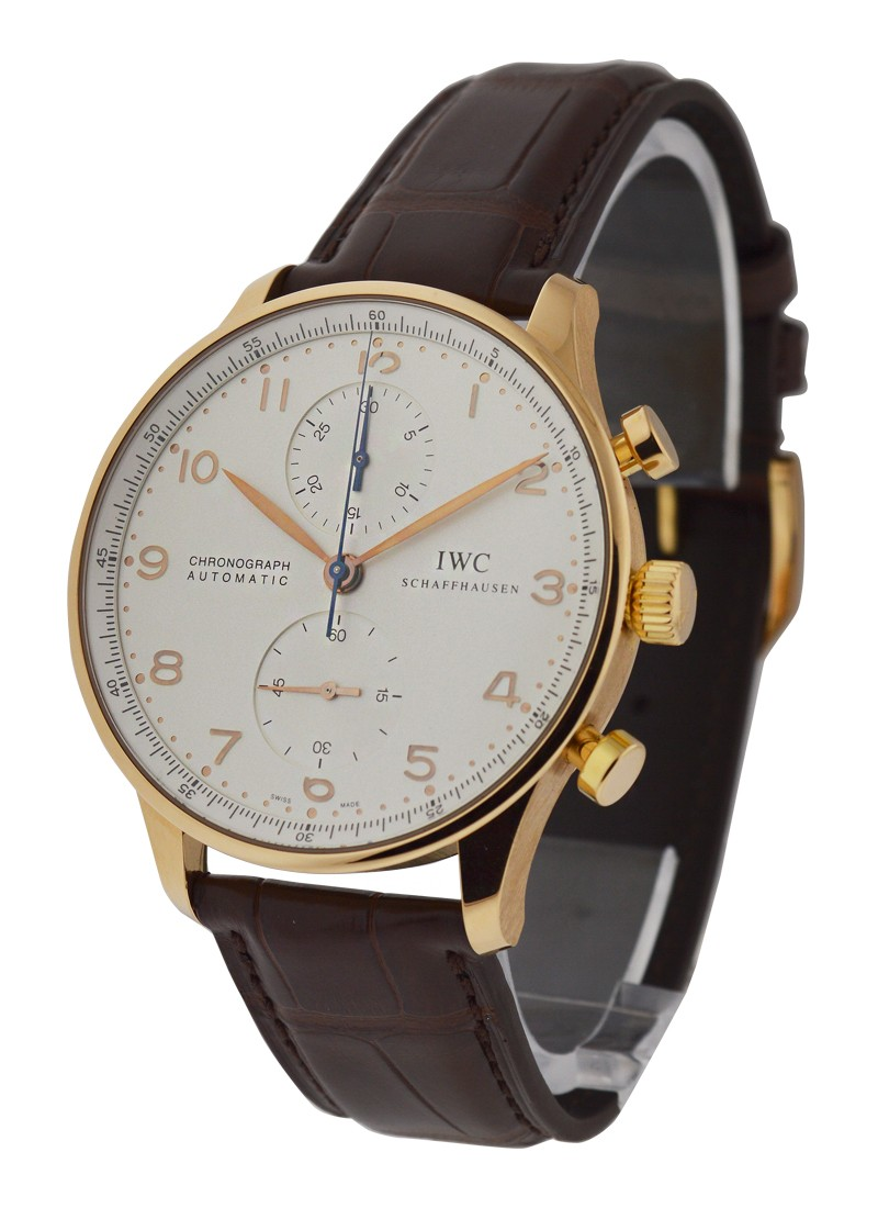 IWC Portuguese Chronograph in Rose Gold