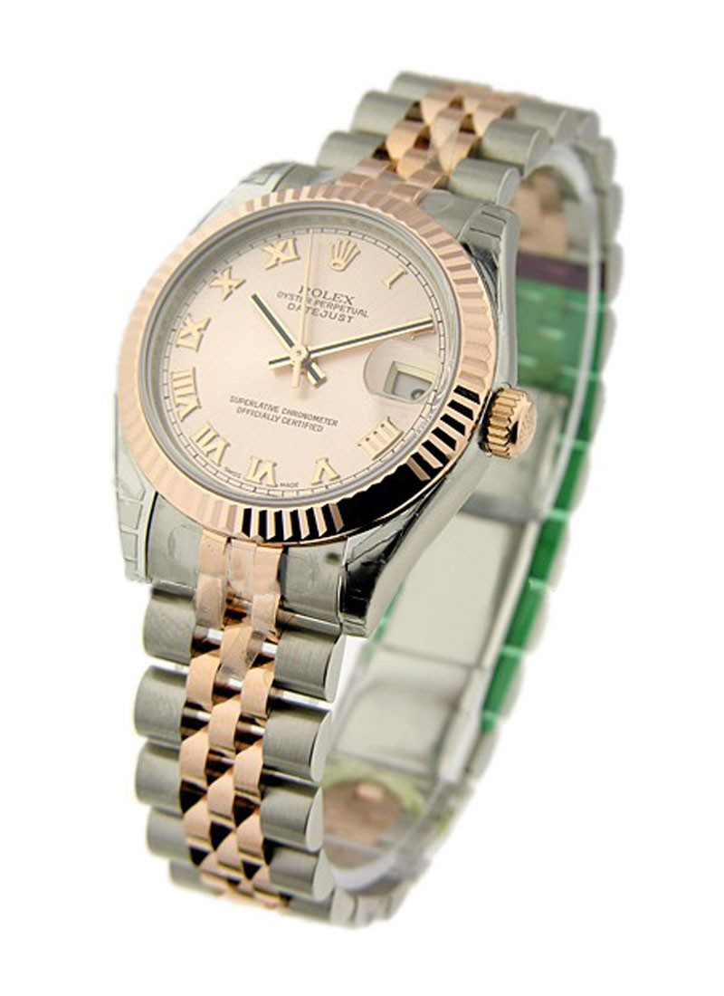 Rolex Unworn 2-Tone Datejust with Rose Gold Fluted Bezel