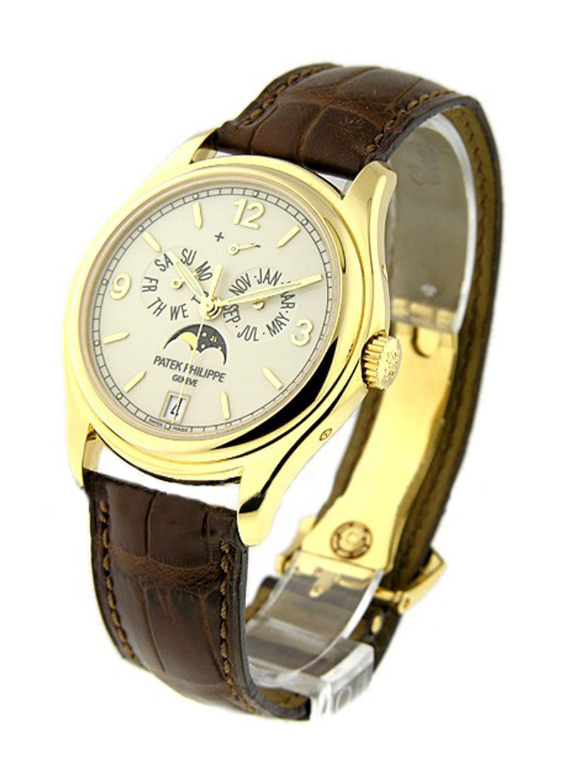 Patek Philippe Ref 5146J Annual Calendar with Moon in Yellow Gold
