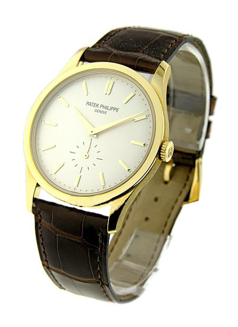Patek Philippe Ref 5196J Calatrava in Yellow Gold