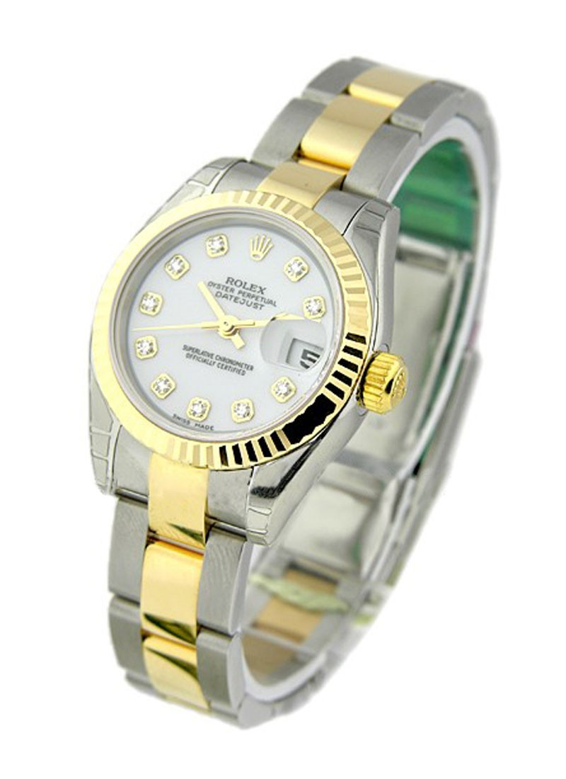 Rolex Unworn Datejust 2 Tone in Steel with Yellow Gold Fluted Bezel