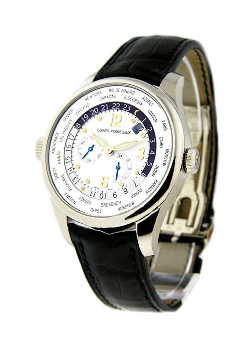 Girard Perregaux World Time Power Reserve in White Gold