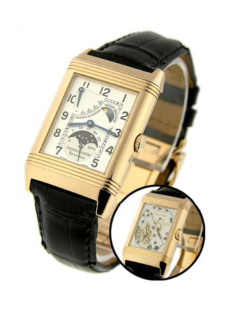 Jaeger - LeCoultre Reverso Night and Day in Rose Gold