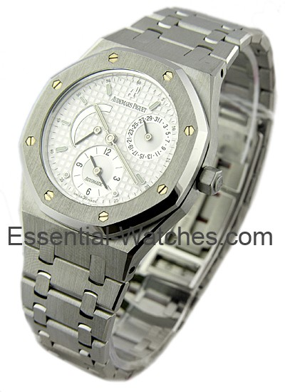 Audemars Piguet Royal Oak Dual Time and Power Reserve 36mm in Steel