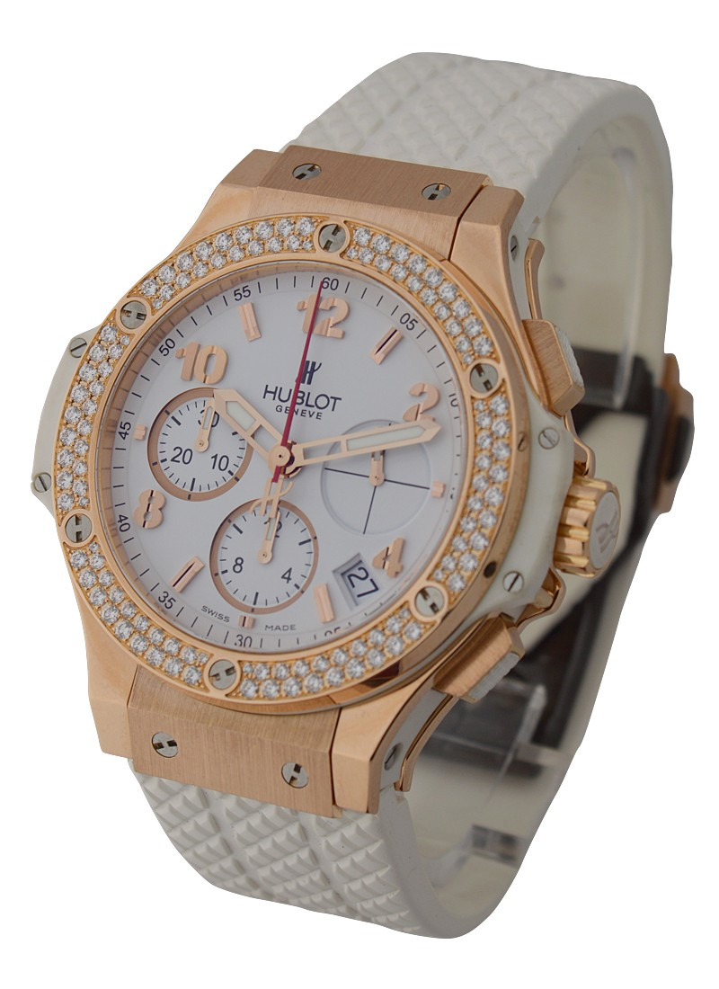 Hublot Big Bang Portocervo 41mm in Rose Gold with 2 Row Diamond Bezel
