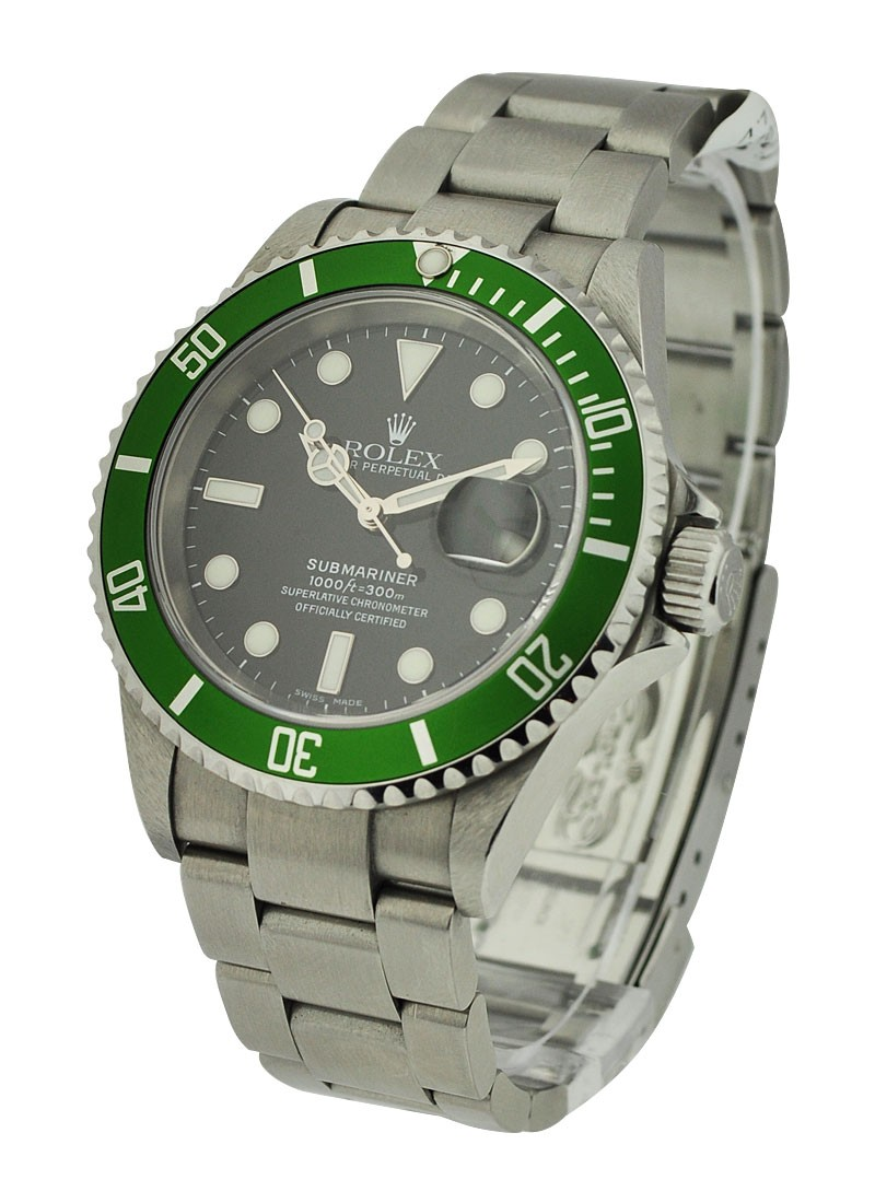 Rolex Used Green Submariner with Date 16610V