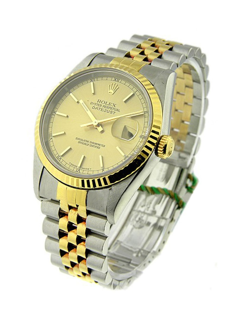 Rolex Used 2-Tone Datejust 36mm with Yellow Gold Fluted Bezel