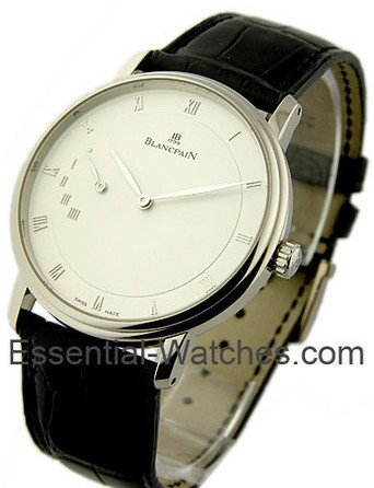 Blancpain Leman Ultra Slim Power Reserve 40mm Automatic in White Gold