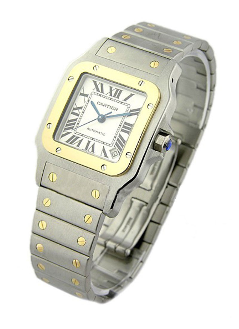 Cartier SANTOS GALBEE XL in 2-Tone