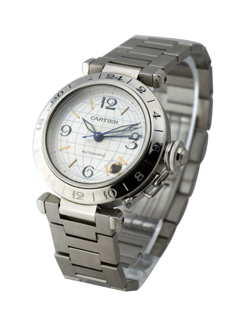 Cartier Pasha C GMT in Stainless Steel