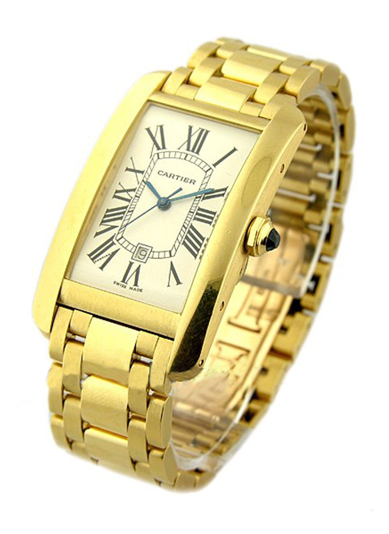 Cartier Tank Americaine Large Size in Yellow Gold