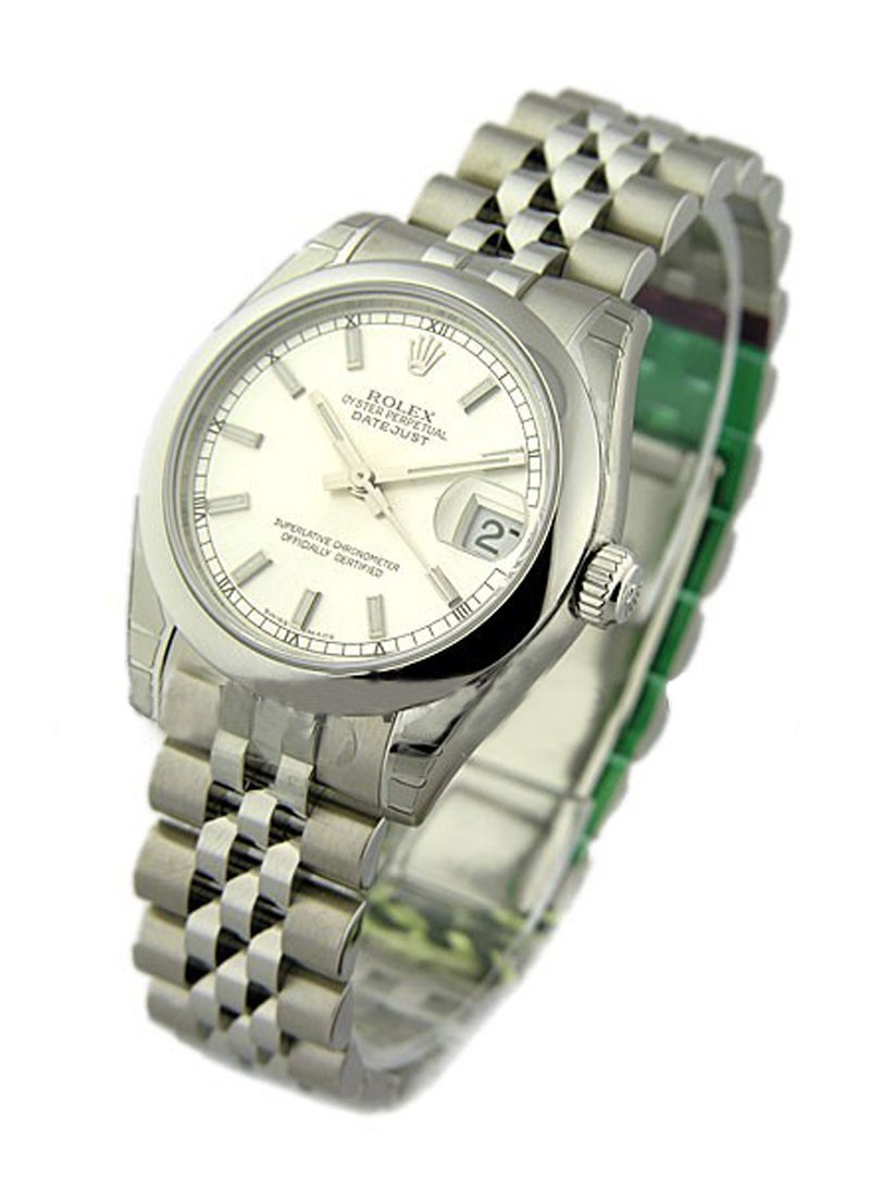 Rolex Unworn Mid Size Datejust 31mm in Steel with Smooth Bezel