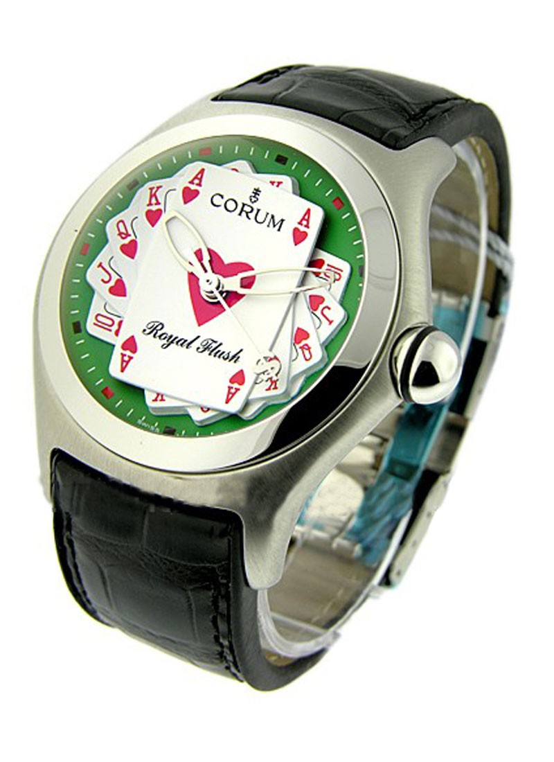 Corum Bubble Royal Flush in Steel