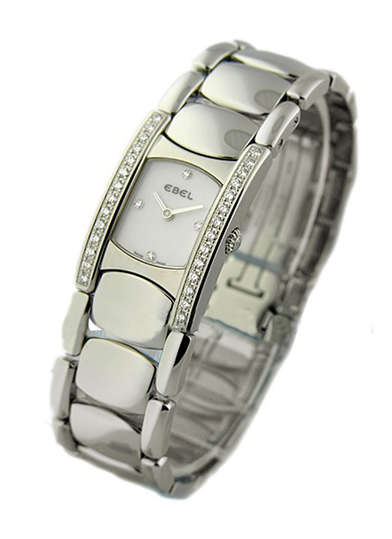 Ebel Beluga Manchette in Steel with Diamond Bezel