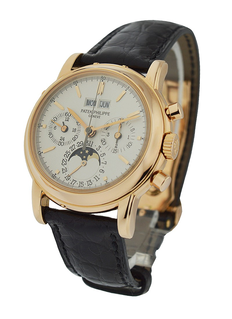 Patek Philippe 3970r Perpetual Calendar Chronograph in Rose Gold