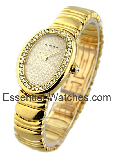 Cartier Baignoire with Factory Diamond Case