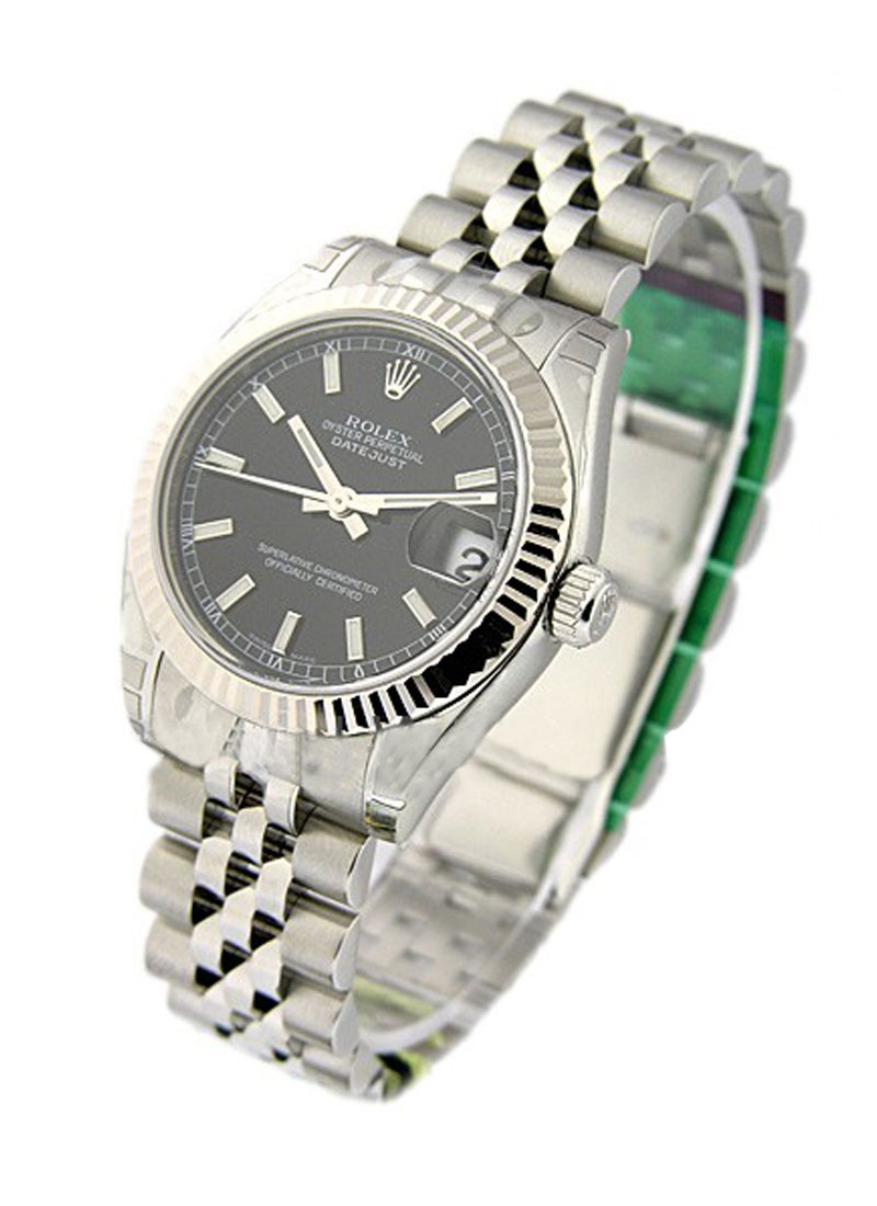 Mid Size Datejust 31mm in Steel with Fluted Bezel