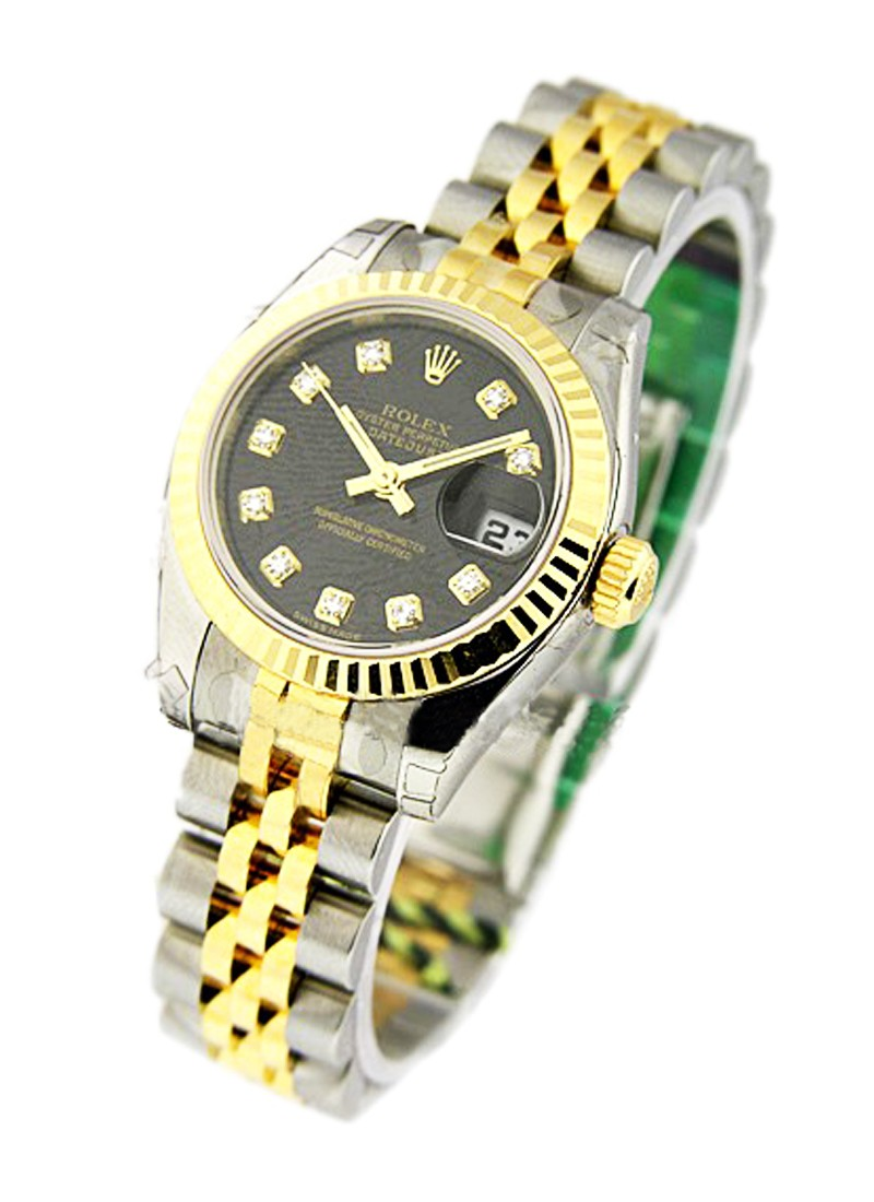 Rolex Unworn Datejust 26mm Lady's in Steel with Yellow Gold Fluted Bezel