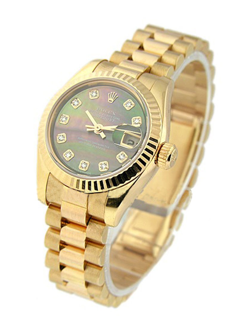 Rolex Unworn President  26mm in Rose Gold with Fluted Bezel