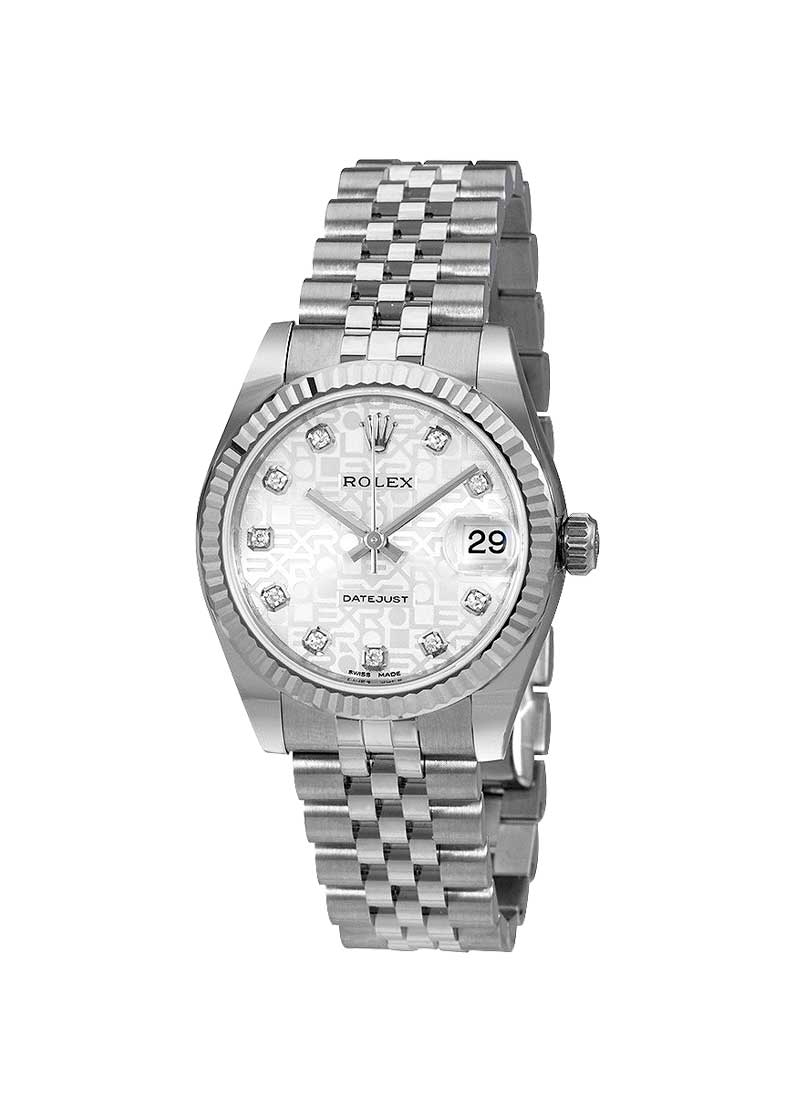 Rolex Unworn Datejust 31mm Midsize in Steel with Fluted Bezel