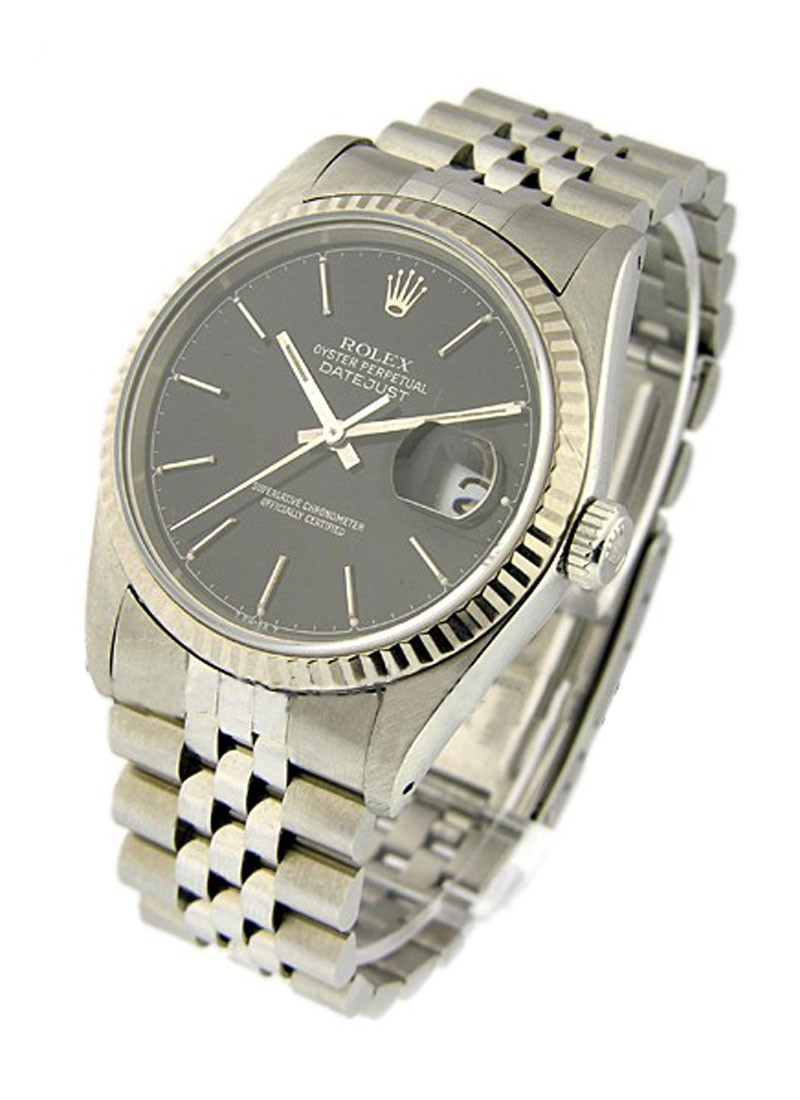 Rolex Used Men''s Datejust 36mm with White Gold Fluted Bezel