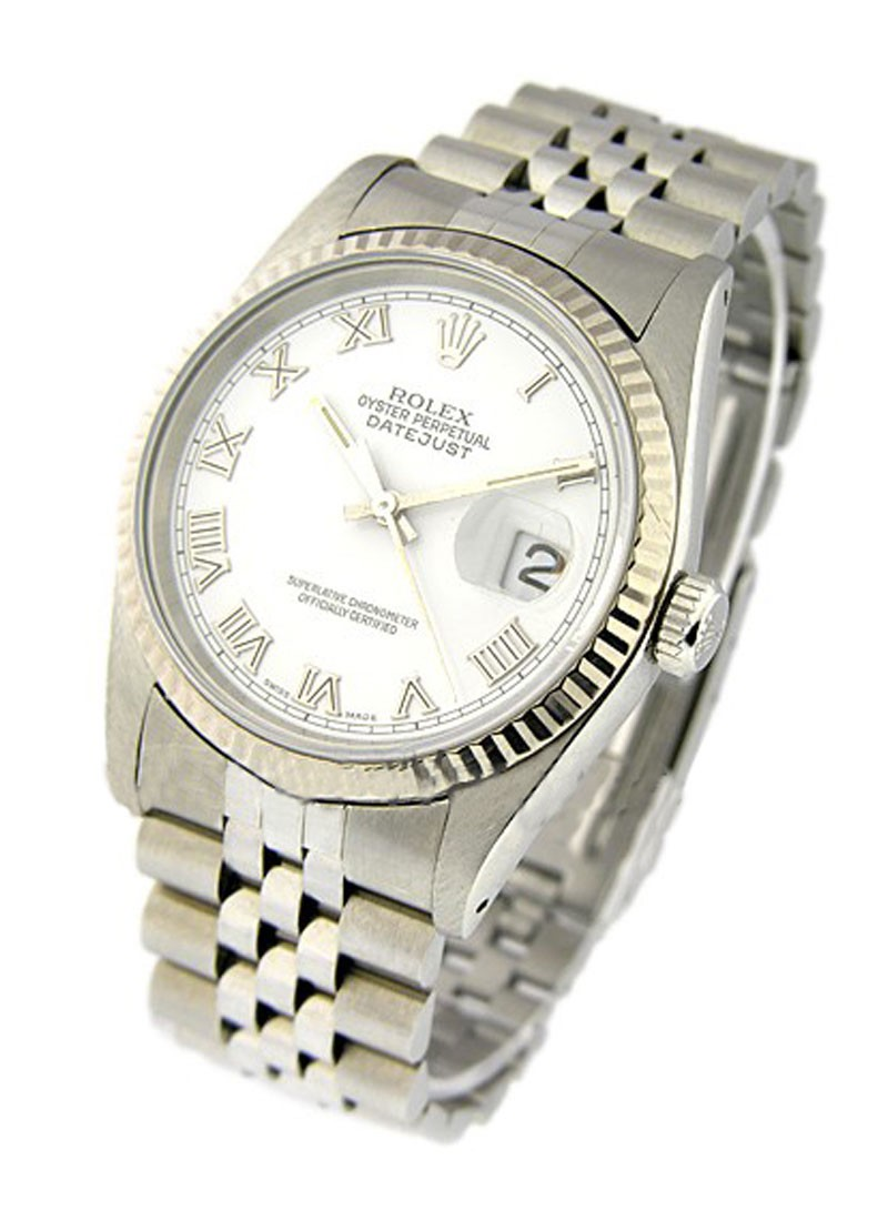 Rolex Used Men's Datejust 36mm with White Gold Fluted Bezel