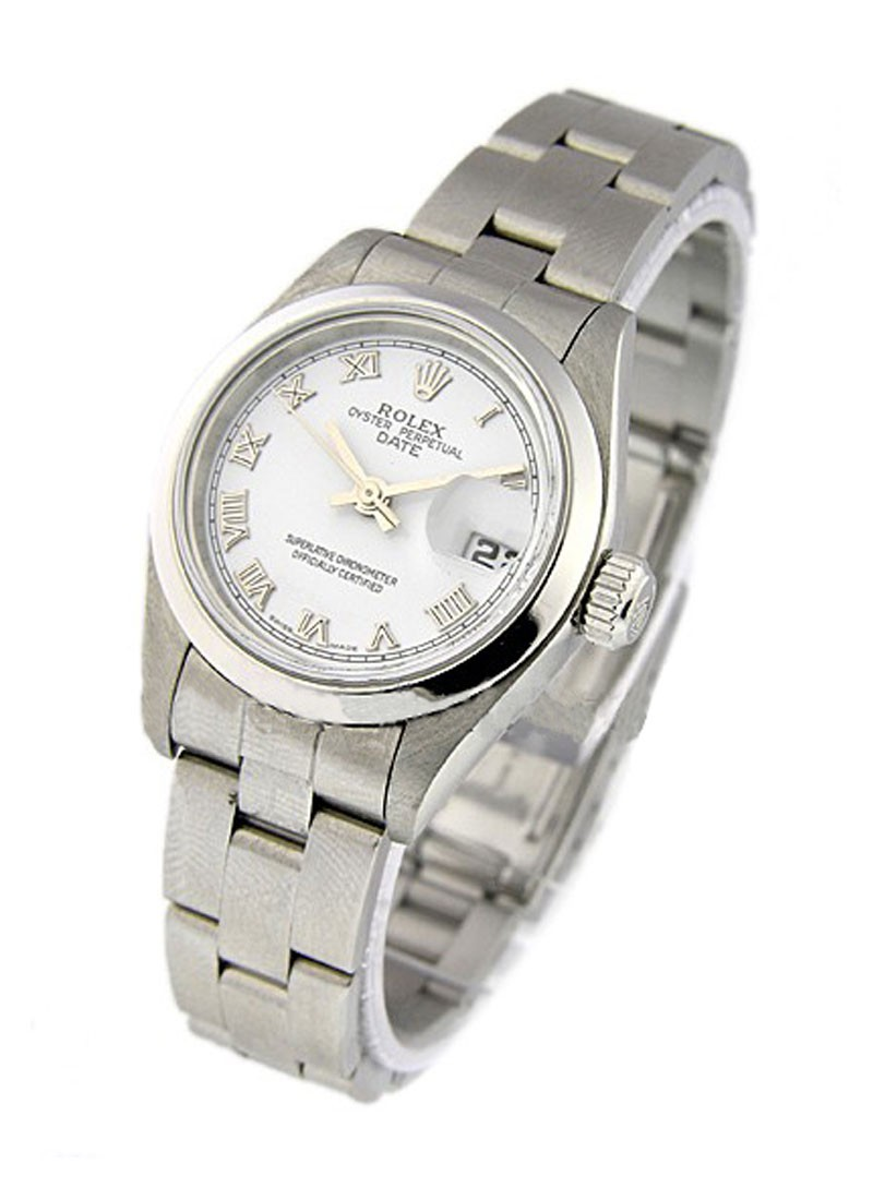 Rolex Used Date Oyster Perpetual 26mm Automatic in Steel with Smooth Bezel