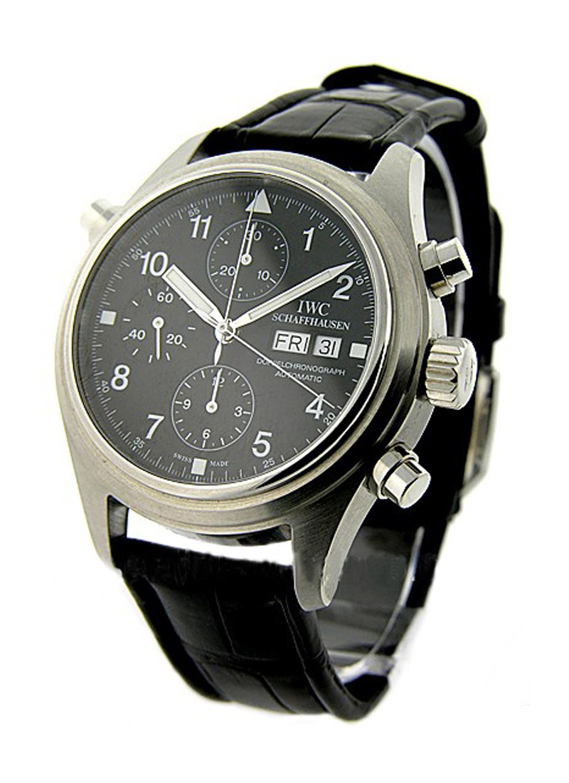 IWC Pilot Doppel Double Chronograph in Steel
