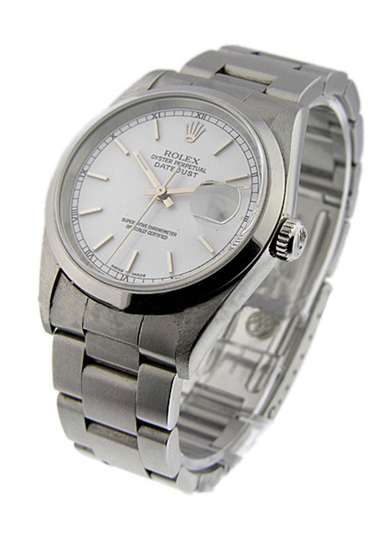 Pre-Owned Rolex Datejust 36mm in Steel with Smooth Bezel