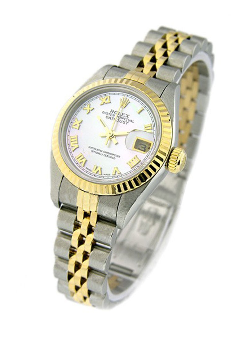 Pre-Owned Rolex Lady's Datejust 26mm in Steel and Yellow Gold Fluted Bezel