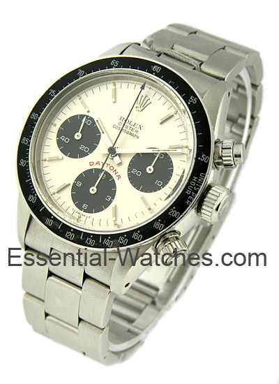 Rolex Used Daytona Panda 6263 Big Red in Steel Circa 1976