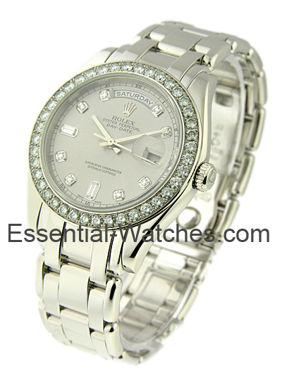 Pre-Owned Rolex Masterpiece Day Date with Platinum Diamond Bezel