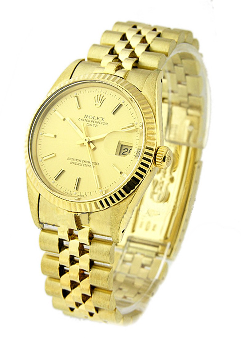 Rolex Used Date 34mm Automati in Yellow Gold circa  1987