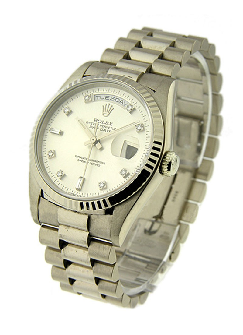 Rolex Used White Gold Men's President with President Bracelet
