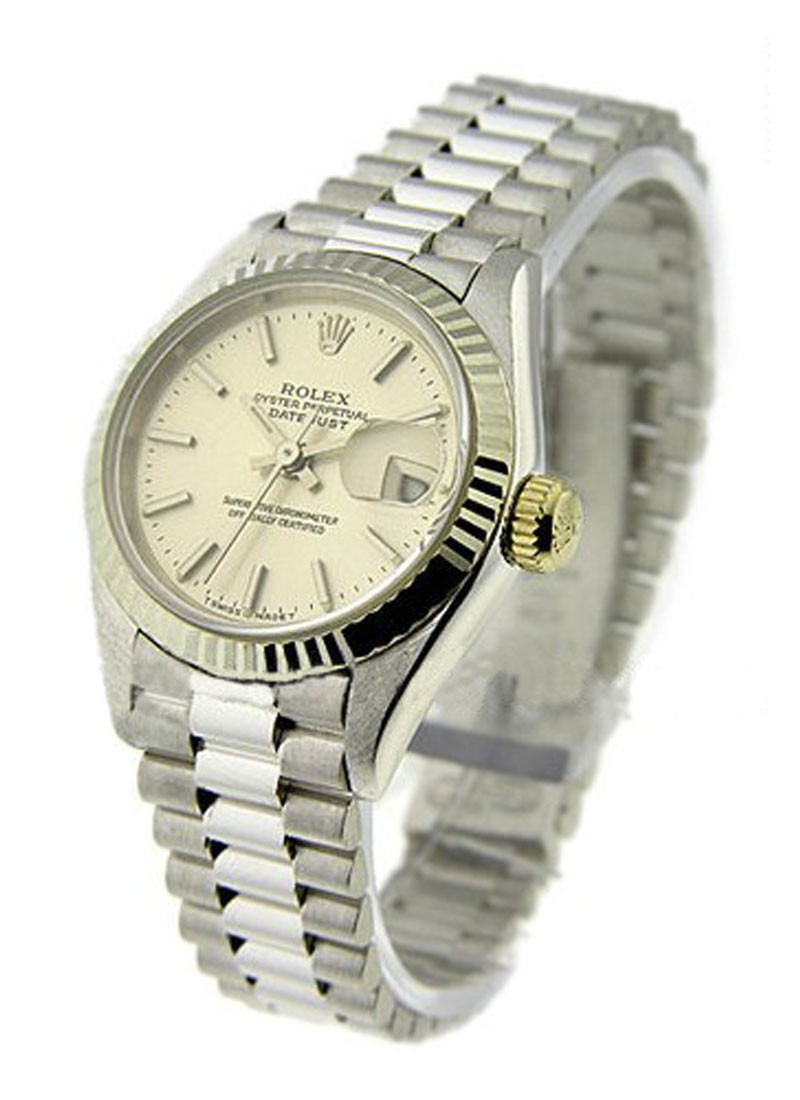 Rolex Used Lady''s White Gold PRESIDENT