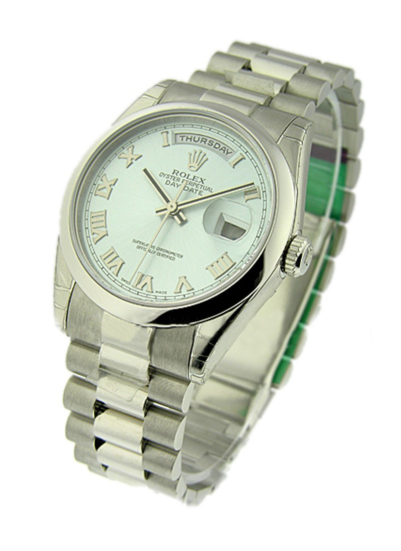 Rolex Unworn Men's Day Date Platinum President with Domed Bezel