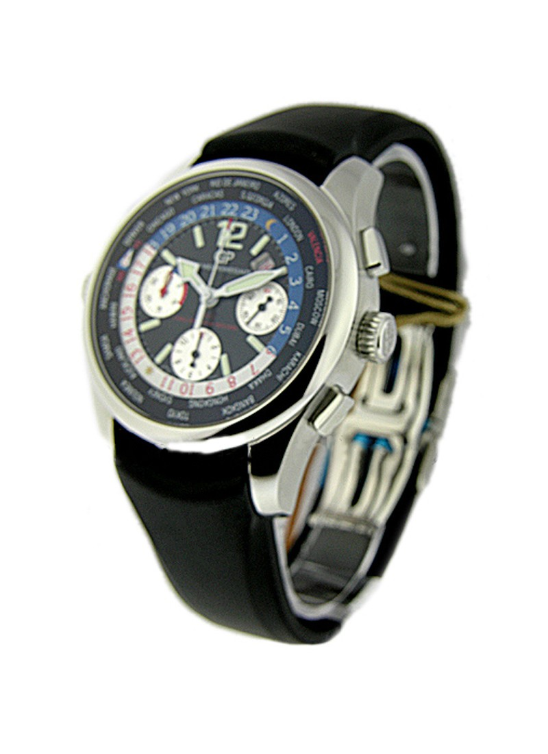 Girard Perregaux World Time Chronograph BMW Oracle USA 76 Challenger in Steel