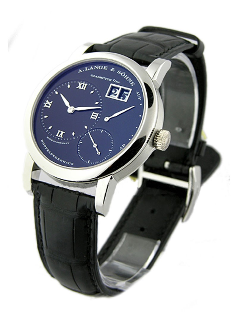 A. Lange & Sohne Lange 1 Mens Manual in Platinum