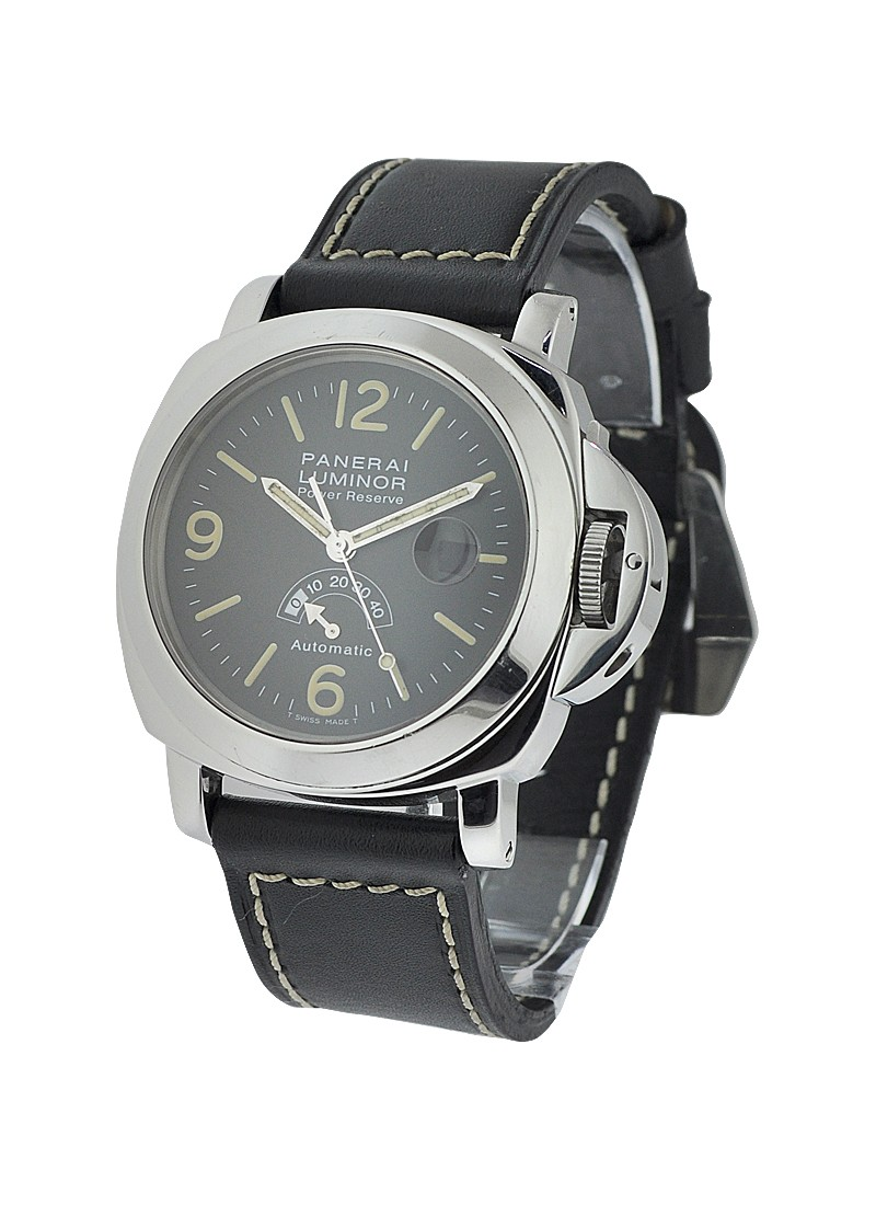Panerai PAM 27    Power Reserve T dial Silver arrow In Steel