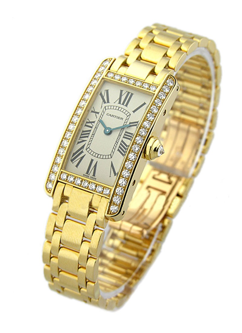 Cartier Lady's Size   Tank Americaine in Yellow Gold