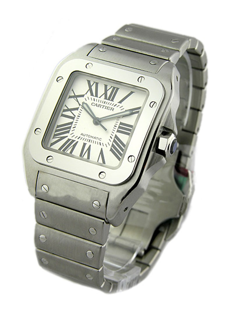 Cartier Santos 100 Large Size on Bracelet