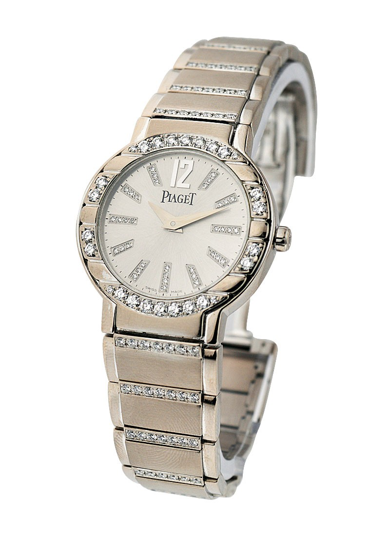 Piaget Polo Lady's Size in White Gold with Diamond Bezel