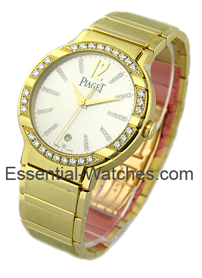 Piaget Polo in Yellow Gold with Diamond Bezel