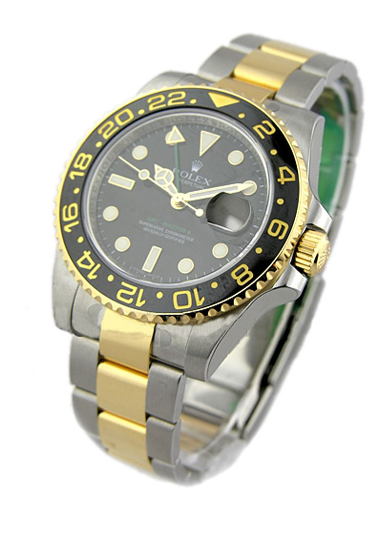 Rolex Unworn GMT Master II 2-Tone in Steel with Yellow Gold Ceramic Bezel