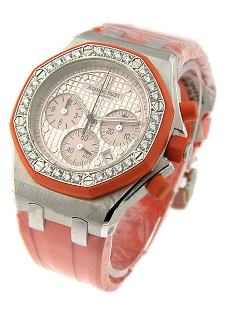 Audemars Piguet Ladys Offshore Chrono with Orange Accents