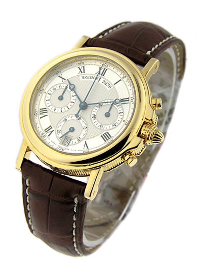 Breguet Marine Chronograph in Yellow Gold